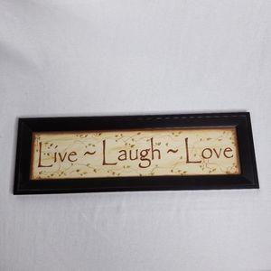 Live Love Laugh Framed Print New Kim Klassen